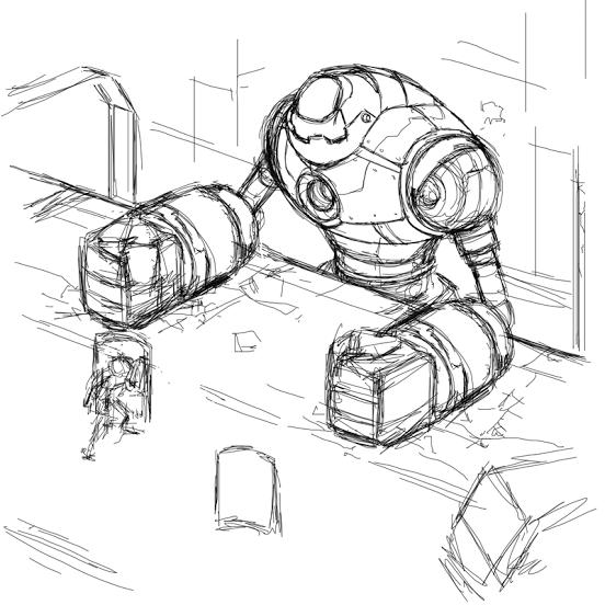 Titan Mecha Robot Boss Initial Concept