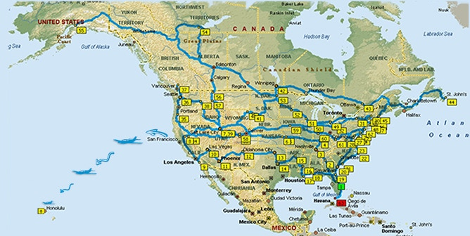 Here's the route with most of our stops. Looks kinda like spaghetti!