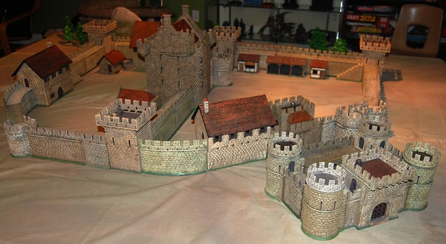 A photo of the Medieval Building Authority castle system