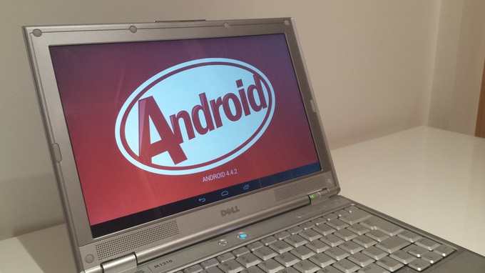 Android 4.4 running smoothly on old Dell XPS M1210.