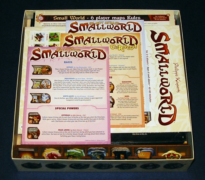 Small World (and expansions listed above) with Basic Storage Set