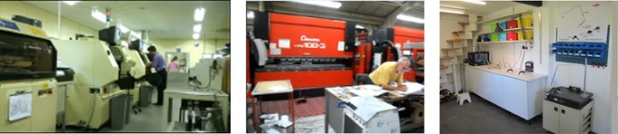 Making the MPCB's at DK Thermal, the forming machine at Teversham Engineering, assembly in our studio.