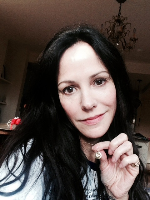 Mary Louise Parker wearing her LSG Charm by Helen Ficalora...Want one? If you donate $1,000 or more it can be yours!