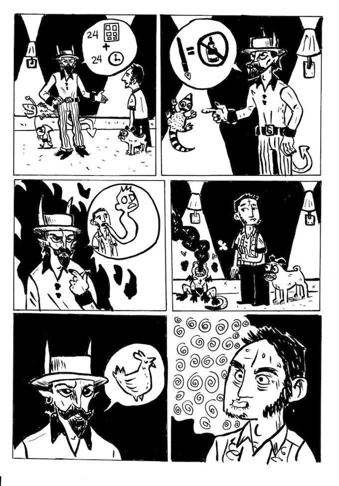An original 1-page comic written by YOU and drawn by Eraklis Petmezas!