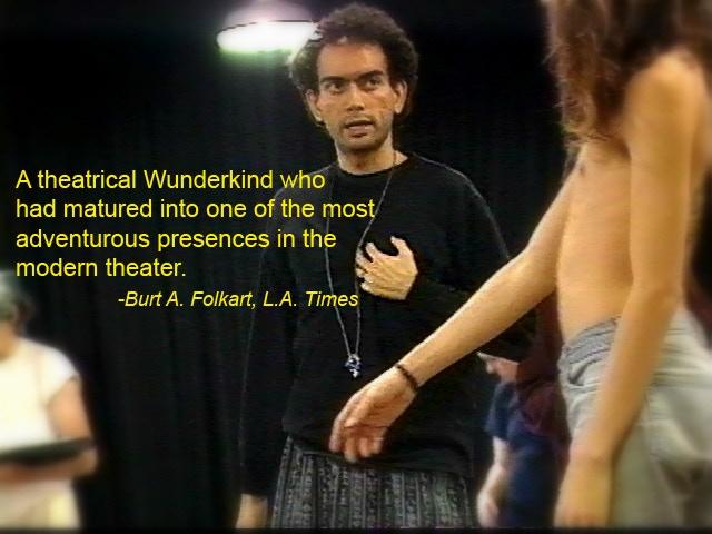 Rehearsing at Los Angeles Theatre Center:  BOGEYMAN