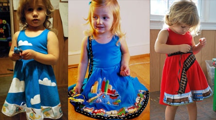Busy Dresses - Train, Road, Airplane