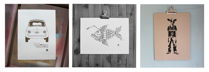 12x16 PRINTS FROM ESPRESSO & WATER BASED INK