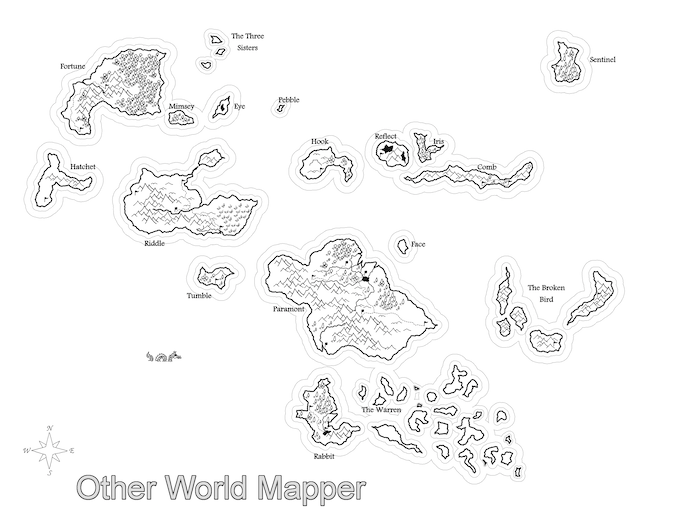 Simple map with multiple islands
