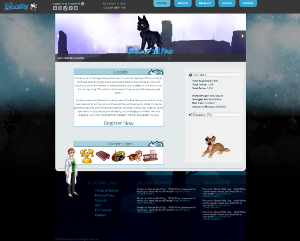 Pre-alpha homepage in progress; subject to change