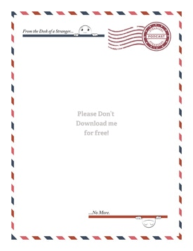 Strangers digital letterhead, comes with pen-pal (if you want one).