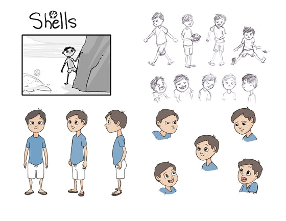 Character Design Kickstarter : Shells a new d animated short filipino folklore to