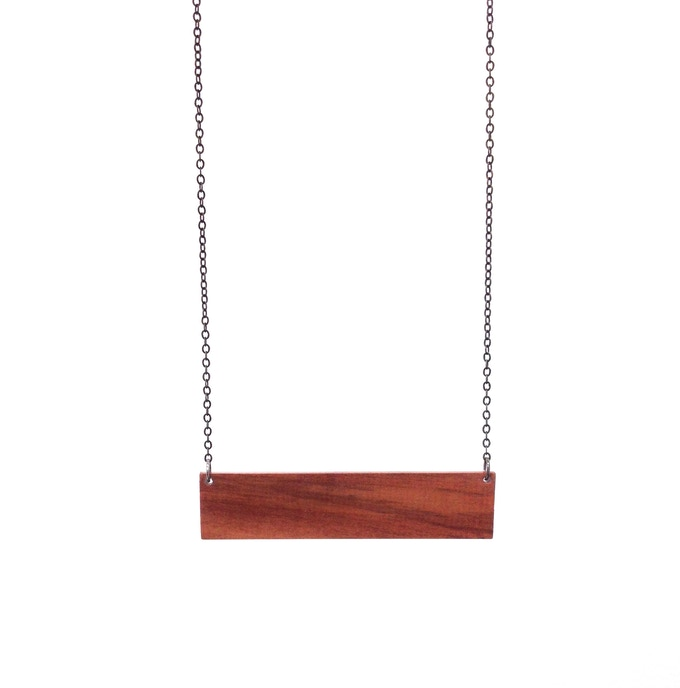 Geometric Bar Necklace in Pear