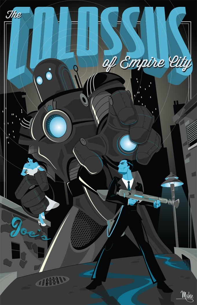 "The Colossus of Empire City 20""x30"" gicleé print"
