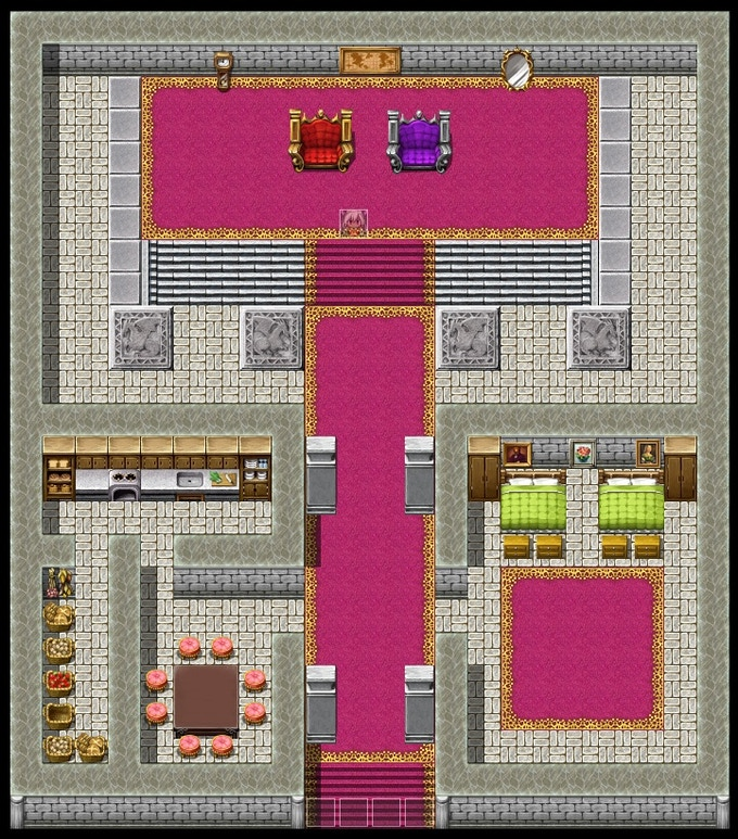 One of the many encounter maps from the game.