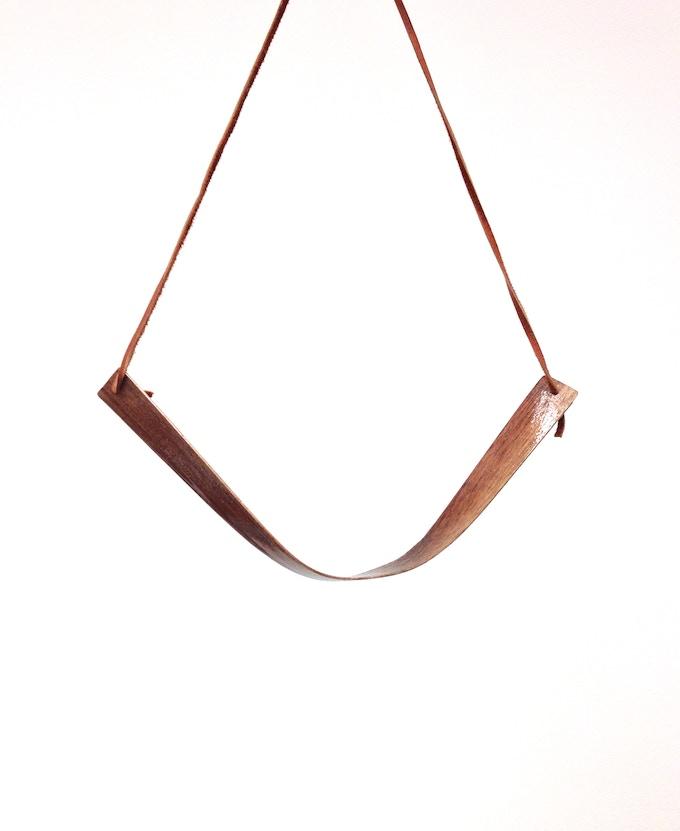 V Bend Necklace in deerskin leather
