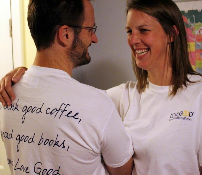 LoveGood 100% cotton t-shirt - reward for $60 donation or higher