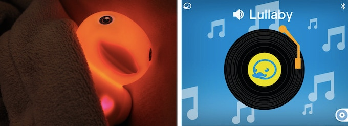 Sleep soundly with soft nightlight and soothing lullabies