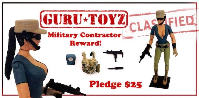 Guru Toyz Female Contractor Action Figure Reward!