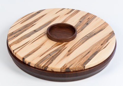 Quot wooden serving tray lazy susan by doug and tuya
