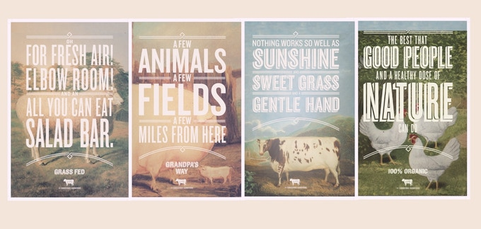 Pick your poster with a $75 pledge! Lamb, Beef, Chicken or Pork.