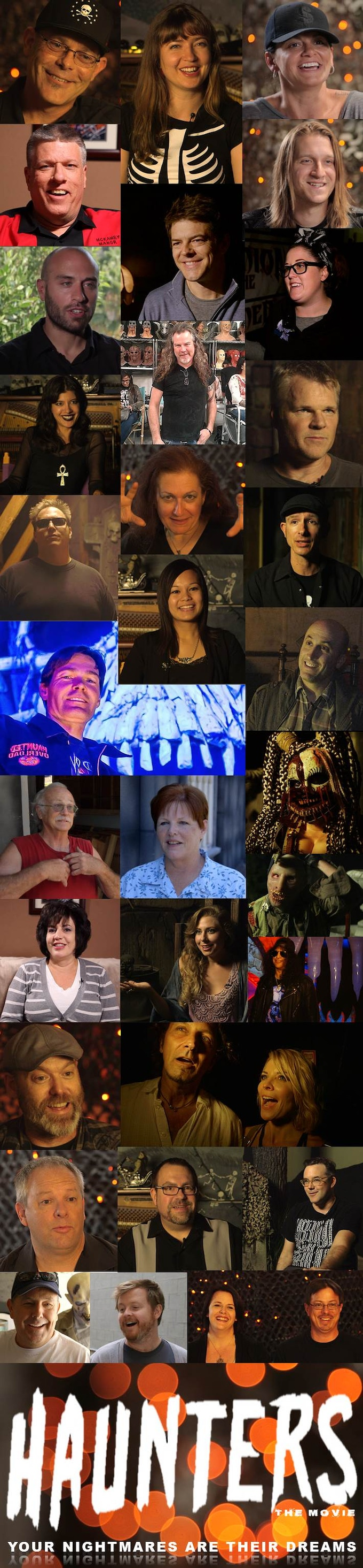 Some of the people in HAUNTERS The Movie