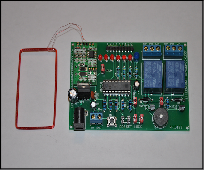 The rfid arduino compatible reader decoder set