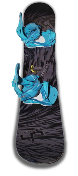 Can you see the Black AlpineHawk on this snowboard?