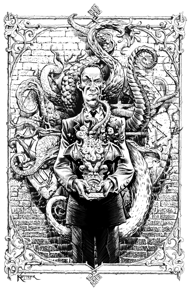1 of 6 original Lovecraft pin ups that will be featured in the book (this one is by Lukas Ketner)