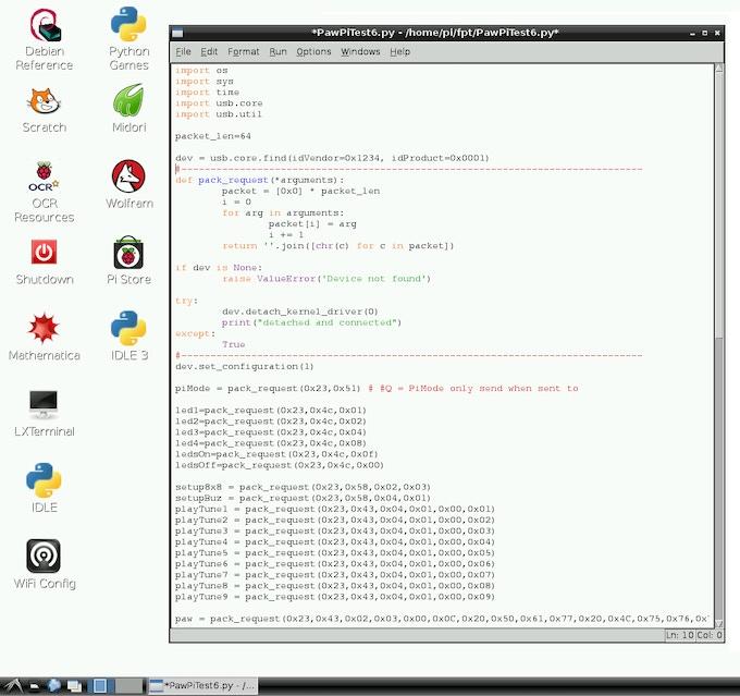 Python code controlling FlowPaw