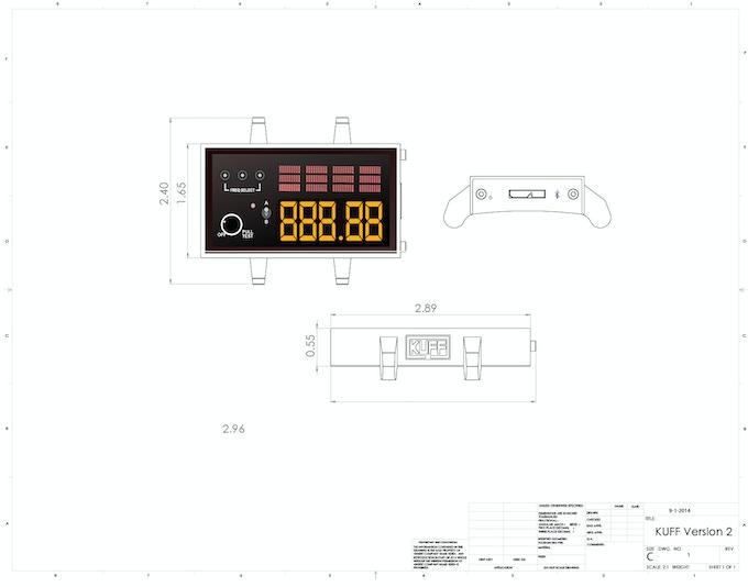 KUFF Version 2 Featuring OLED Display & Wireless Bluetooth