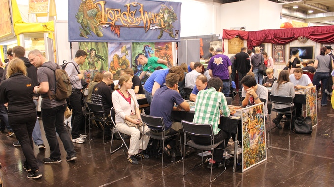 Our busy booth at The Spiel. See a full gallery of photos on https://www.facebook.com/BBG.lordsofwar
