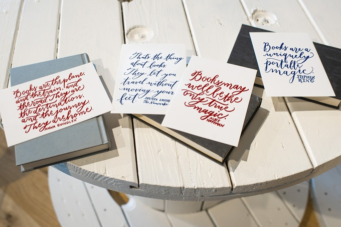 Lettered by Kelly Cummings of Spindle Photography and screenprinted by Yellowhammer Creative, this set of four prints is available as a reward!