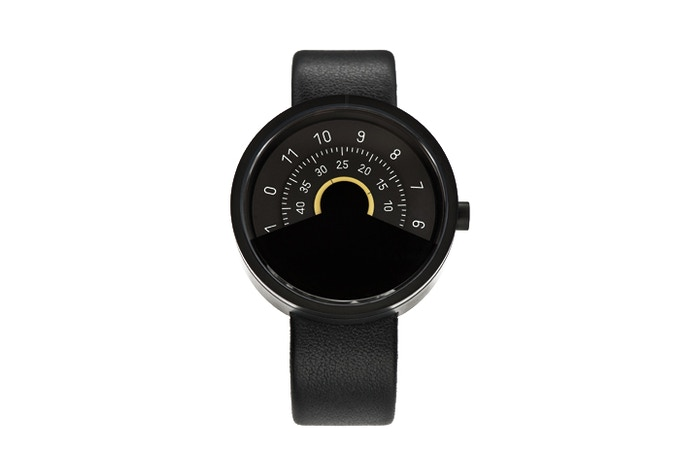 ANICORN Series 000 Automatic Watch in Black & Yellow(Concentric disc)