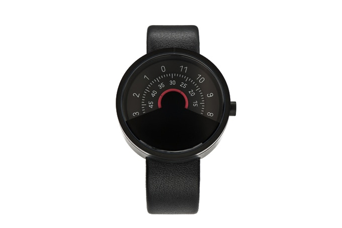 ANICORN Series 000 Automatic Watch in Black & Red(Concentric disc)