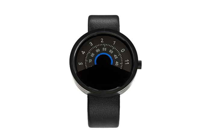 ANICORN Series 000 Automatic Watch in Black & Blue(Concentric disc)
