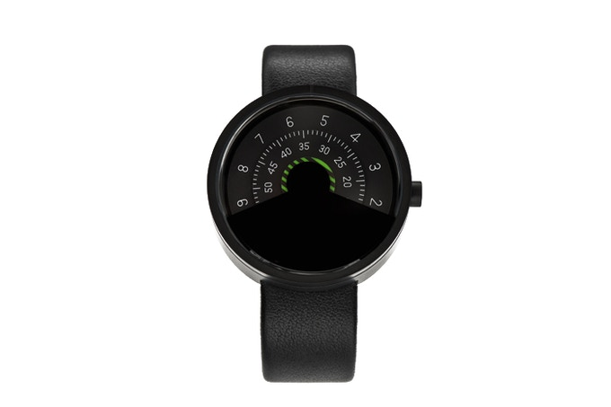 Kickstarter Exclusive - ANICORN Series 000 Automatic Watch in Black & Moss Stripe(Concentric disc)