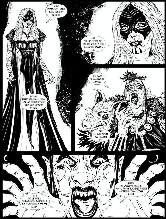 """Trial By Cauldron."" Written and drawn by EC Steiner."