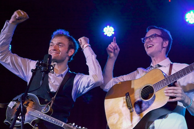 Chris Thile and Michael Daves. Photo by Bobby Neel Adams