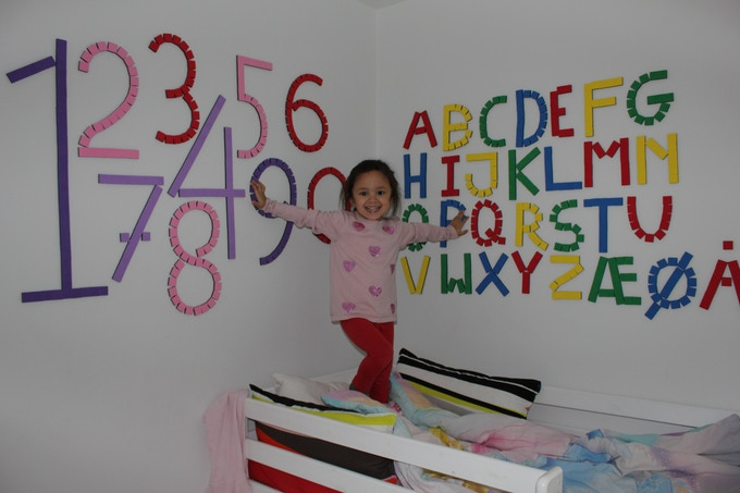 Let the youngsters learn about letters and numbers in a funny and creative way, and when the learning is done they can use the same cubes for new designs.