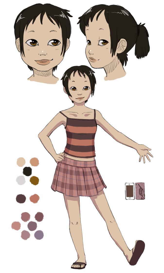 Concept art of character Aya