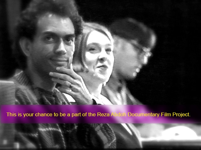 1991 Reza Abdoh, Alyson Campbell-Assistant Director and Rand Ryan-Lighting Designer at Los Angeles Theatre Center Rehearsing BOGEYMAN