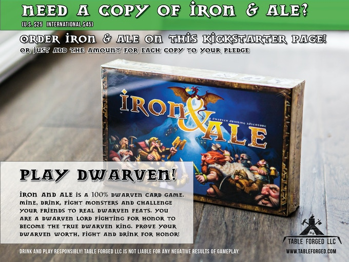 IRON & ALE REWARDS TO THE RIGHT!