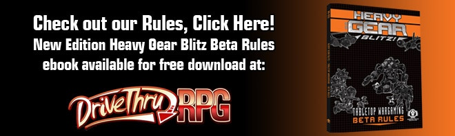 Link image to the Heavy Gear Blitz Beta Rules free ebook download page at DriveThruRPG.