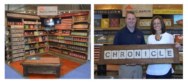 Our first retail show display & our Boston's WCVB Chronicle TV feature!