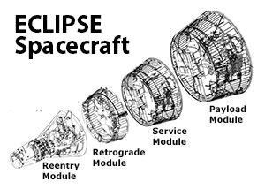 Exploded view of the ECLIPSE spacecraft.