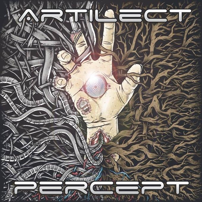 Album art for our first album, Percept.