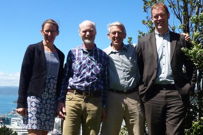 Suze Keith, Simon Lamb, Peter Barrett & Gary Ward - the Wellington Kickstarter Team