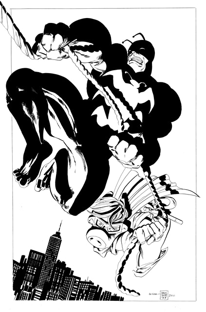 "BP #20 - 11"" x 17"" line art print of this 2010 commission"