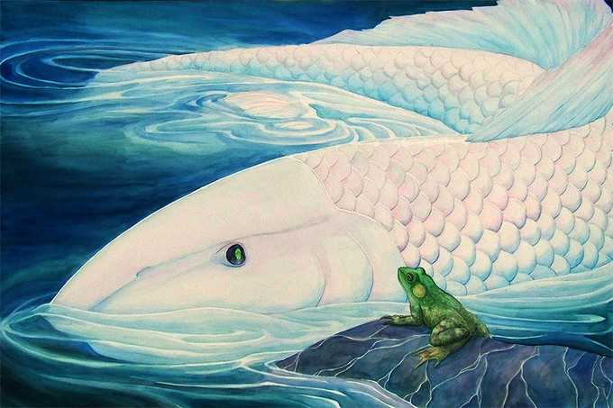 """Frog and Sister Moon"" by Keliana Tayler"