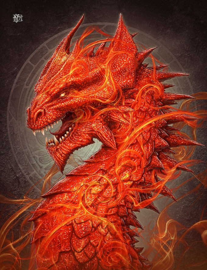 The Sun Dragon - A masculine symbol of Life, Power, Strength, Energy, Force & Clarity